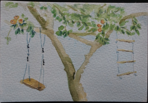 Sketch of tree with swing